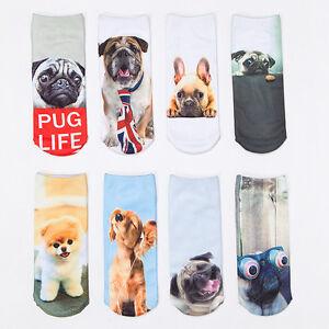 3D-Printed-Animal-Women-Casual-Socks-Cute-Dog-Unisex-Low-Cut-Ankle-Socks