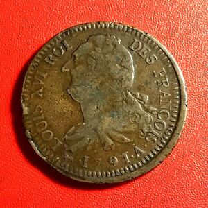1515-RARE-Louis-XVI-2-sols-1791-A-AN3-Belle-qualite-FACTURE