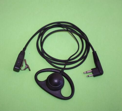 D Shape Earpiece for Motorola Radio GP88 GP68 CT150 CLS1410 SP50 P110 P1225
