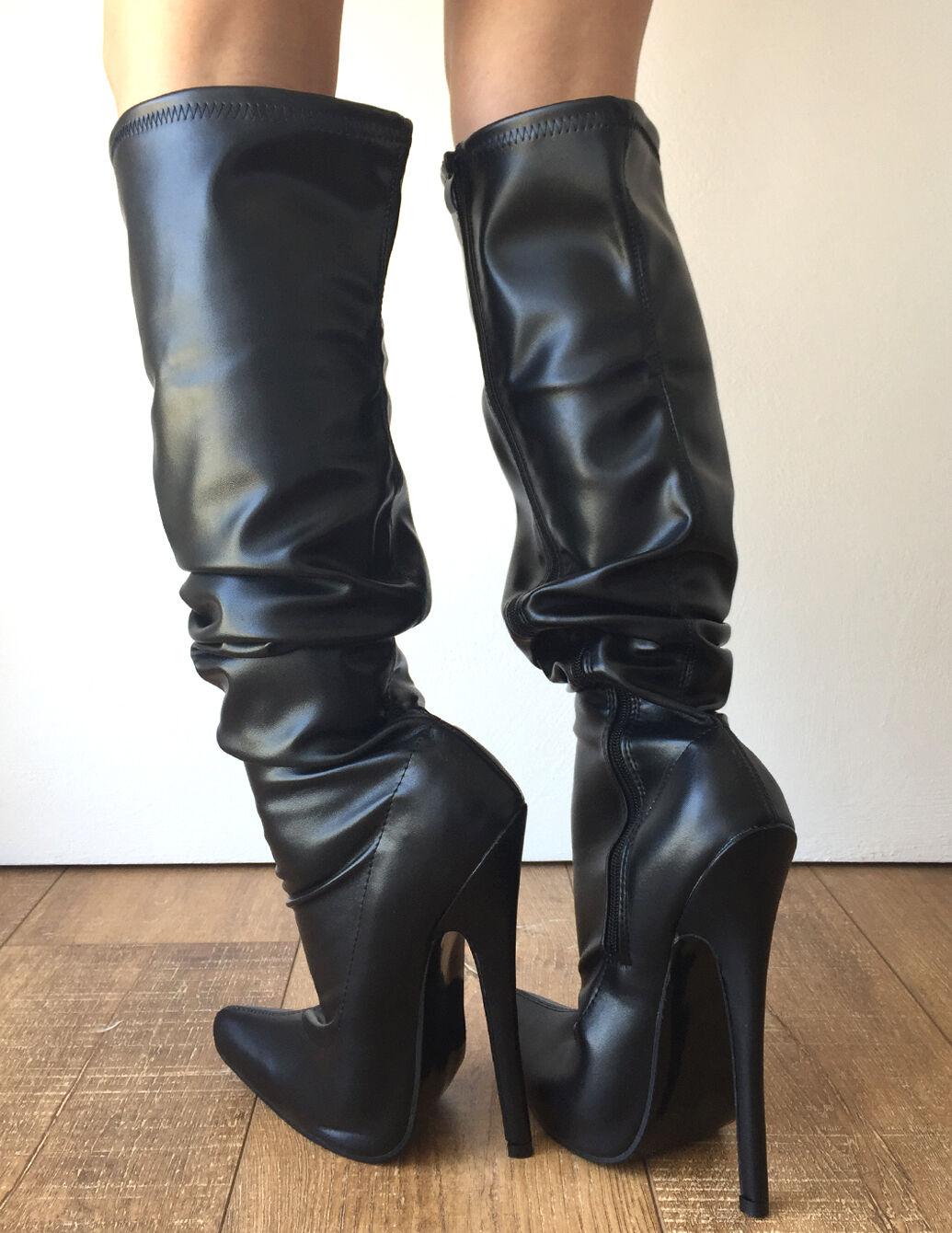 RTBU PIRATE 18cm Stiletto Slouch Gathered Over Knee Hi Boots Customized Shaft