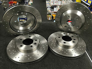 PORSCHE-CAYENNE-3-0-3-2-3-6-BRAKE-DISC-PERFORMANCE-CROSS-DRILLED-FRONT-REAR