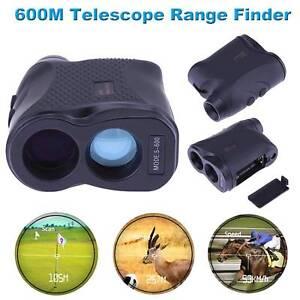 600m-6X-Laser-Rangefinder-Golf-Jagd-Entfernungsmesser-Geschwindigkeit-0-300km-h