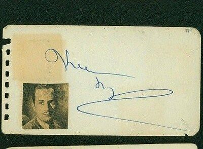 Entertainment Memorabilia Keenan Wynn Signed 2x4 Piece Of Paper Movies