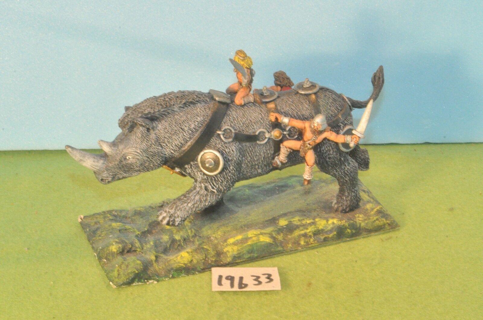Sigmar barbarian battle rhino metal warhammer fantasy conan ral partha (19633)