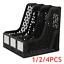 1-4PCS Office Document File Magazine Paper Organiser Holder Rack Stand Mesh 3IN1