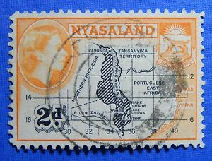 1953 NYASALAND 2d SCOTT# 100 S.G.# 176 USED CS20986