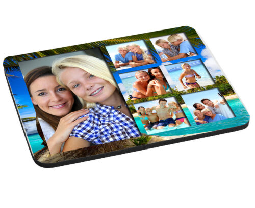 Pad Personalised Photo Collage Beach Holiday Effect Mouse Mat