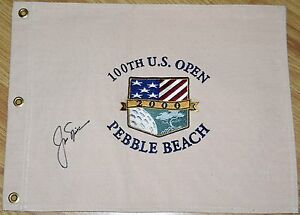 JACK-NICKLAUS-Signed-2000-US-OPEN-Canvas-Pin-Flag-JSA-LOA-Embroidered