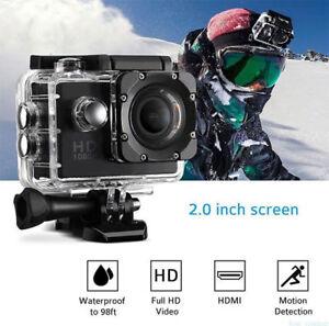 "2"" Acción Cámara Deportiva Videocámara 1080P HD 12MP Sumergible 30M DV Vídeo A9"