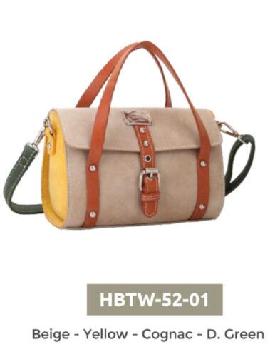Hi Di Hi kleine Tasche Stilvoll gelb braun blau Handtasche Umhängetasche hbtw-52