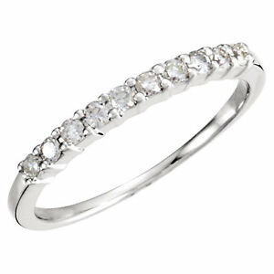 .20 Ct Forever Classic Moissanite Anniversary band Ring 14k White Gold