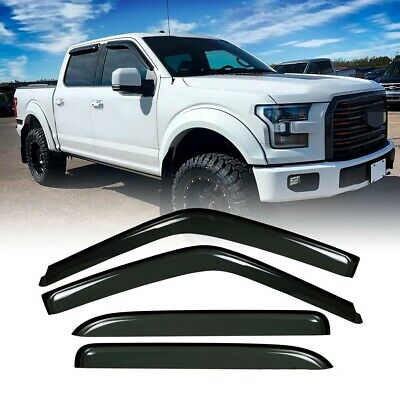 Rain Guard Window Vent Visors Deflector For Ford F-150 F-250 Light Duty 1997-03