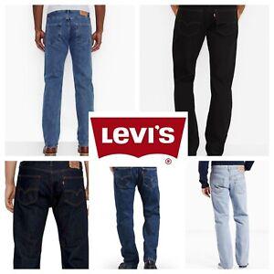 Levis-505-Jeans-New-Mens-Regular-Fit-Straight-Leg-29-30-31-32-33-34-36-38-40-42
