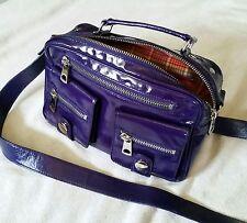 MARC JACOBS Patent Leather Dark Purple Handbag Crossbody Shoulder Original