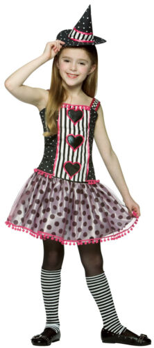 Spelladonna Witch Striped Polka Dot Dress Up Halloween Child Costume 3 COLORS