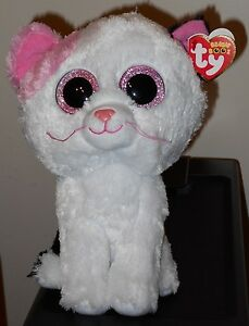 "Ty Beanie Boos ~ MUFFIN the White Cat ~ Medium Buddy 9"" Size ~ MWMT'S"