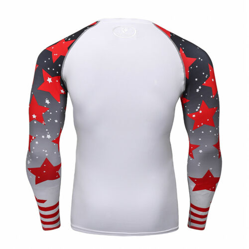 Men/'s Compression Tops Dri fit Long Sleeve Tights Under Base Layer Gym T-shirts