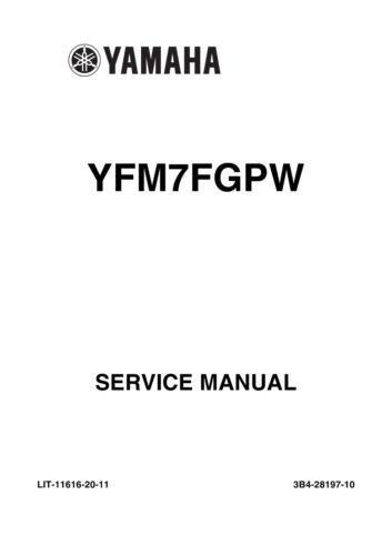New Yamaha Grizzly YFM 700 ATV YFM7FGPW 2006 Service Manual LIT ...