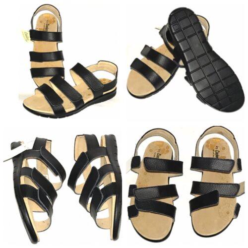 EEE Orthopedic Diabetic LEATHER GLADIATOR Roma Sandal Shoe Women Extra Wide