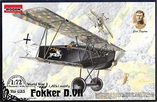 RODEN 1/72 Scale Ww1 German Fokker D.vii Alb Early Biplane Fighter Model Kit.mib