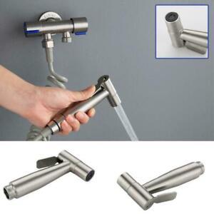 Badezimmer-Edelstahl-Home-WC-Bidet-Wasserhahn-Jet-Set-Handbrause-Sprayer-B7G6