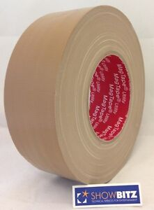 Gaffa-BEIGE-BROWN-GLOSS-Gaffer-duct-Tape-50mm-X-50m-MAGTAPE-Utility