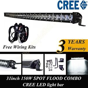 30 inch cree single row led curved light bar off road work double led light bar wiring harness #8