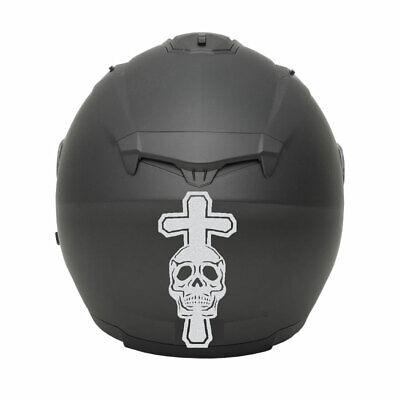 Aufkleber motorradfahrer auto motorrad helm ass bild motard totenkopf