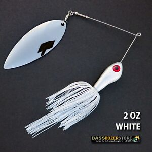 Bassdozer-spinnerbaits-BIG-WILLOW-SINGLE-2-oz-D-WHITE-spinnerbait-spinner-baits