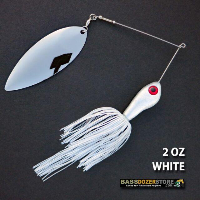 Bassdozer spinnerbaits BIG WILLOW SINGLE 2 oz D. WHITE spinnerbait spinner baits