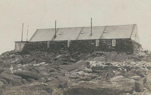 CD-121 NH, White Mtns Old Tip Top House MT Washington Real Photo Postcard RPPC