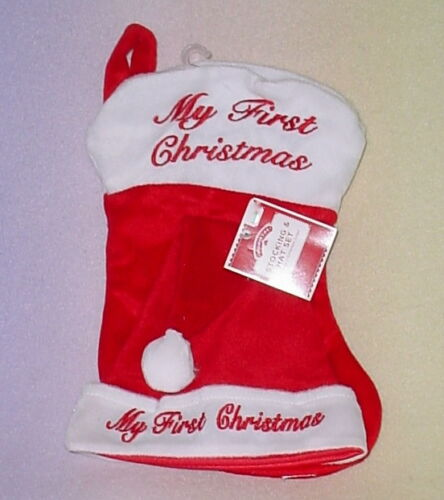 Celebrations Occasions Holiday Time My First Christmas Stocking Hat Set 16 Inches Cute Red Home Furniture Diy New Times Bg