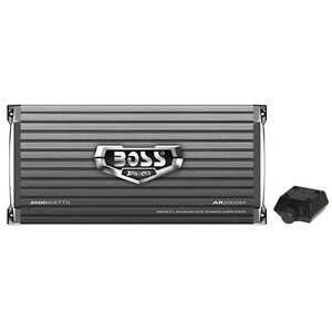 Boss-Armor-AR2000M-2000-Watt-Monoblock-A-B-Amplifier-Car-Audio-Amp-Bass-Remote