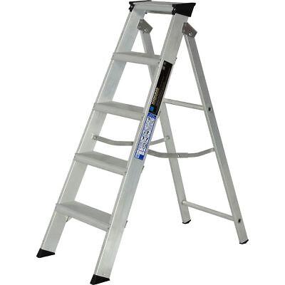 Aluminium Step Ladder Class 1 Folding Industrial Trade Youngman Heavy Duty Steps