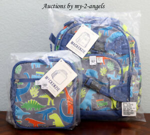 2943f571cc45 NEW Pottery Barn Kids NEON MULTI DINO Dinosaur Small Backpack+ ...