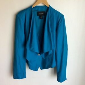 Karen-Kane-Blue-Jacket-Draped-Lapels-Size-XL