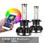 thumbnail 2 - 2X Car Auto H7 RGB Color Changing LED Headlight Kit Phone APP Controller Light