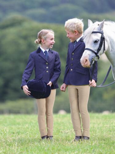 Black Boys Girls Shires Childs Aston Show Riding Jacket All Sizes Navy