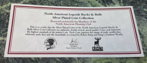 Details about  /Spirit Buck North American Hunting Club NAHC Bucks and Bulls Silver Coin