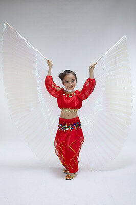 New Performance Kids Wings  Belly Dance Costume Children's Isis Wings 3 colors