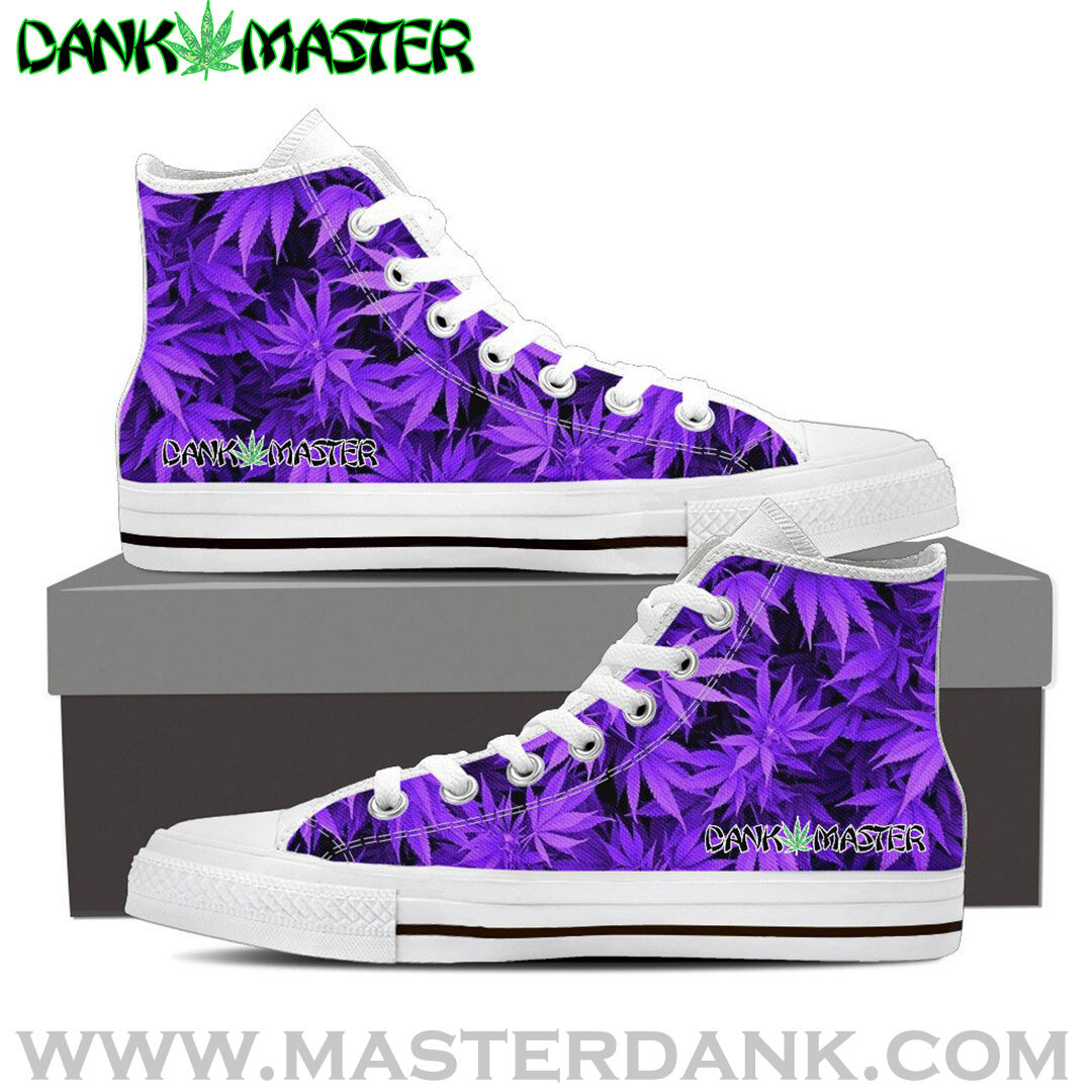 a7ac03e3a254 Dank Dank Dank Master Womens Shoes custom purple weed leaf marijuana  cannabis sneakers 2d1320
