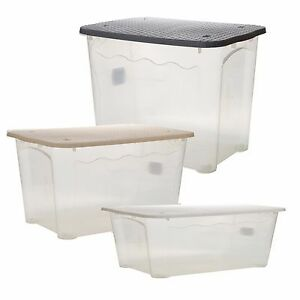 2x-Plastic-Storage-Box-Rattan-Lidded-Quality-Stackable-Bin-Office-Home-Container
