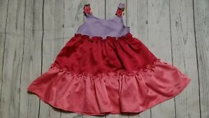 GYMBOREE HAPPY ELEPHANT GRAY N PINK w// DOTS TIERED SWEATER  DRESS 12 18 24 NWT