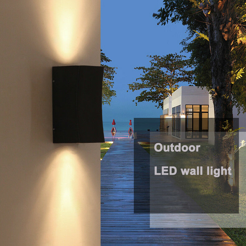 6W LED Luz De Apliques De Parojo Lámpara al Aire Libre Impermeable Accesorio Balcón Puerta De Jardín