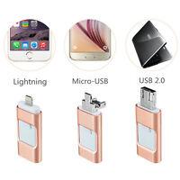 8/16/32/64/128GB Tragbar 3in1 USB i-Flash-Laufwerk HD Memory Stick Für IOS