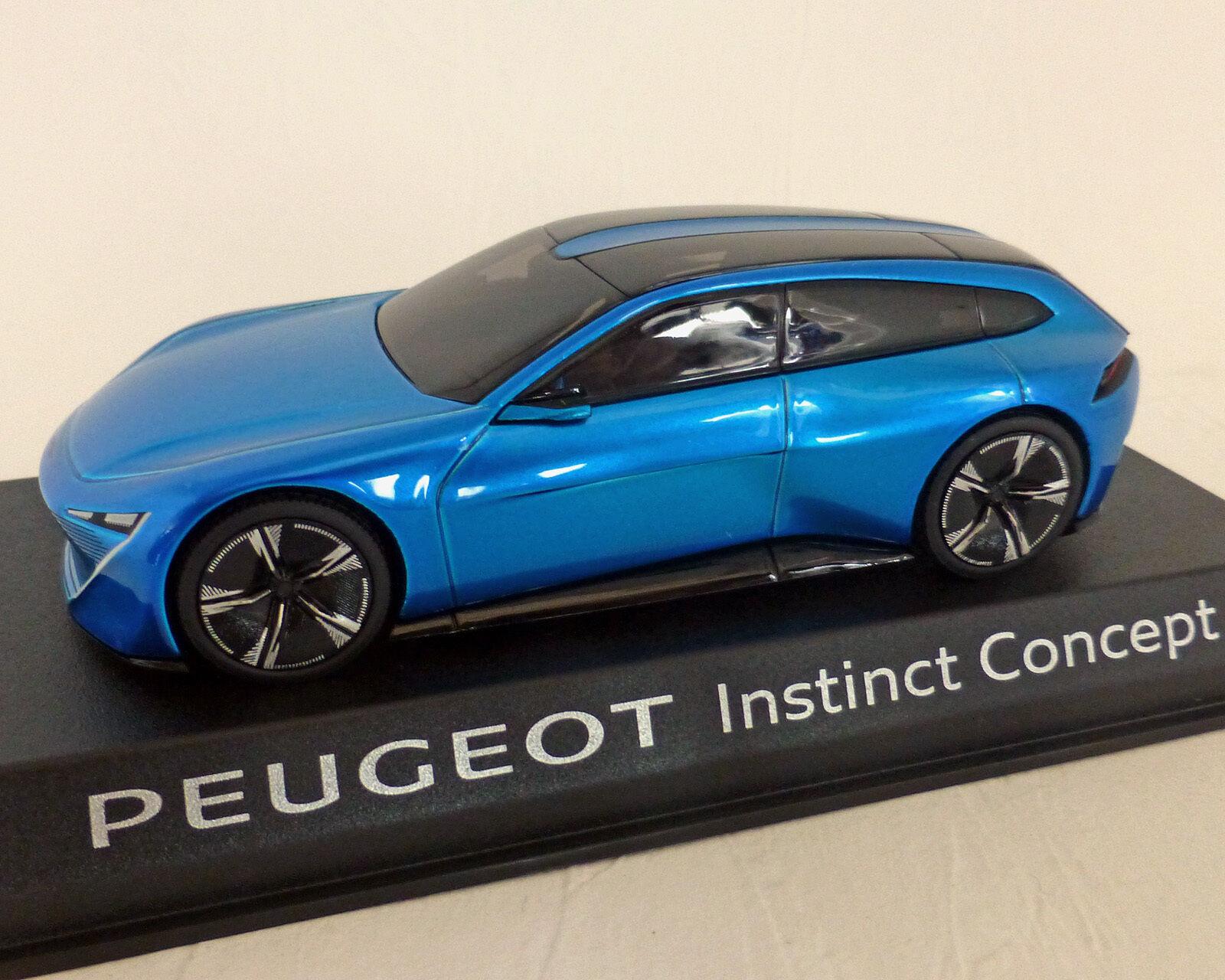 Peugeot instinct, concept-car, bleu métallisé, Norev, 1 43