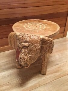 Peachy Details About New Handcrafted Wooden Lucky Elephant Stool Chair Small Decor Accent Table 15 Gmtry Best Dining Table And Chair Ideas Images Gmtryco