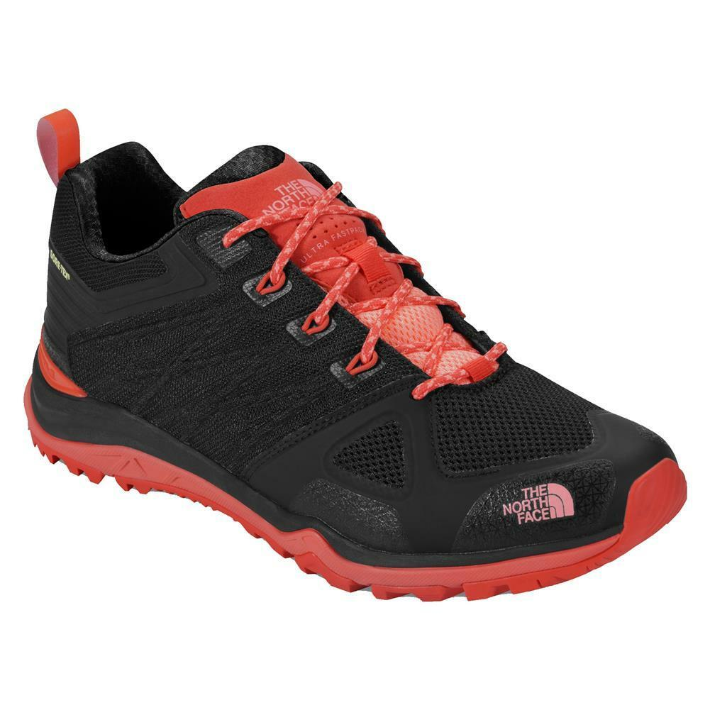 North Face Ultra Fastpack II GTX Hiking Shoe Black Pink Sneakers NEW Authentic