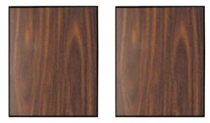 """Pack of 2 Walnut Finish w/Black Trim Blank Wood Plaque 12"""" x 15"""" Only $18.95 ea."""