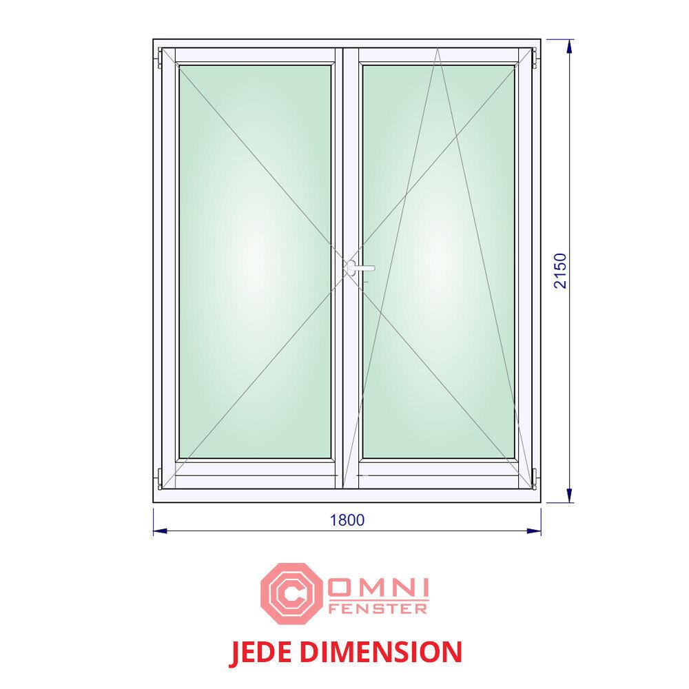 Holz Fenster Meranti 180 x 215cm Holzfenster 2-flüg MODERNER LOOK